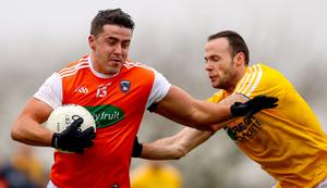 Stefan Campbell in action for Armagh