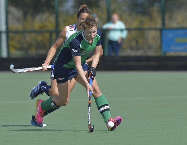 Leading by example: Ireland skipper Megan Frazer in action against Italy at Jordanstown yesterday