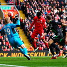 Getting ahead: Daniel Sturridge put Liverpool 2-1 up after Stoke has equalised