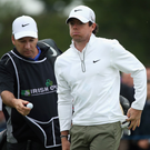 New chapter: Rory McIlroy and caddie JP Fitzgerald have enjoyed great success but will now go their separate ways
