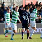Set piece: Leigh Griffiths celebrates his stunning finish
