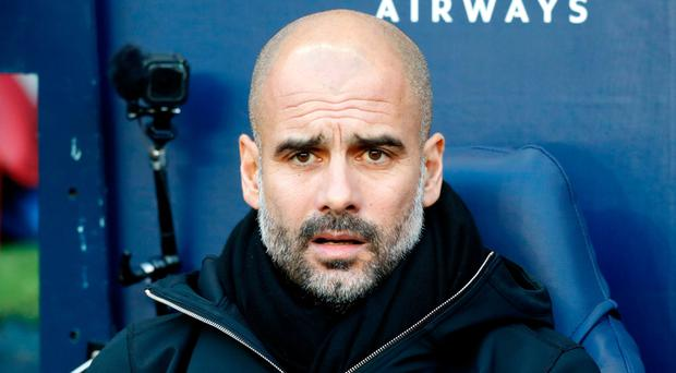 Charged: City's Pep Guardiola