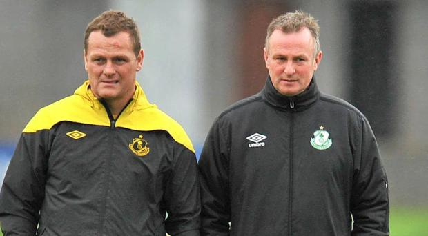 Jim Magilton and Michael O'Neill