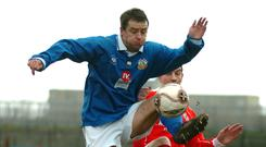 Paul McKnight in action for Glenavon