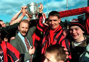 Baxter and then Crusaders manager Roy Walker when they won the title in 1997.