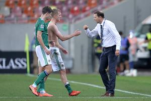 Northern Ireland manager Ian Baraclough was proud of his players' never say die attitude in Romania