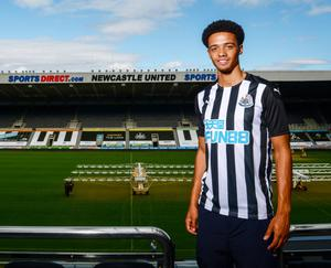 Jamal Lewis after signing for Newcastle United