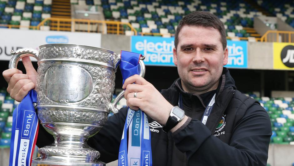 Linfield are top of the league and favourites to win their fourth league title under Healy's management.