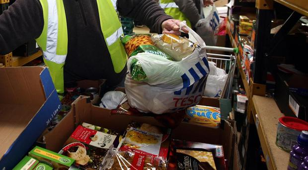 Many families struggling financially are turning to food banks