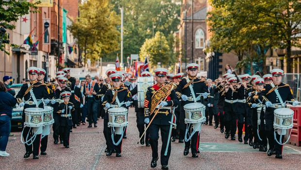 The tour of the north parade takes place in north Belfast on June 18, 2021 (Photo by Kevin Scott for Belfast Telegraph)
