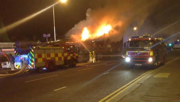 Huge fire takes hold at Newtownards shop causes road closures