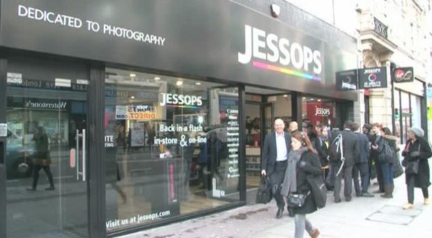 Camera retailer Jessops first entered administration back in January but has since been relaunched by Dragon's Den star Peter Jones