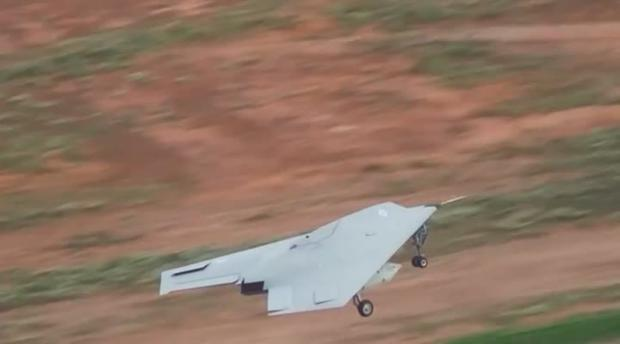 An unmanned Taranis drone (nicknamed Raptor)