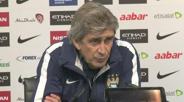 Tooled up: Manuel Pellegrini wants City to be fully focused to gain maximum points before the end of the year