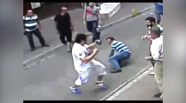 CCTV footage of Mohammed Fadel Dobbous taking on a Turkish mob went viral