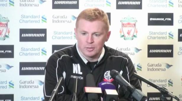 Apology: Bolton boss Lennon