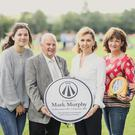 Members of the Murphy family who helped fundraise £6,000 to provide nine defibrillators in local parks present the first of the Public Access Defibrillators (PADs) at Cherryvale Park to the Chair of the People and Communities Committee, Alderman Tommy Sandford. The defibrillators are in memory of Mark Murphy - a husband, father and brother – who died from a heart attack in February last year. Cherryvale was the Murphy family's local park while growing up in Belfast and Mark's family and friends raised sufficient funds to provide PADs for Cherryvale and eight other parks and playing fields across the city. Pictured (l-r) Grace Murphy; Alderman Sandford; Paula Murphy-Durkan; Deborah Murphy and Grace Murphy.