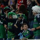 PACEMAKER BELFAST 04/09/2017 Northern Ireland v Czech Republic World Cup group C qualifier Northern Ireland fans during this evenings game at Windsor park in Belfast. Photo Colm Lenaghan/Pacemaker Press