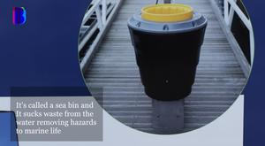 The sea bin which will be used in Bangor harbour / Credit: Ben Tucker