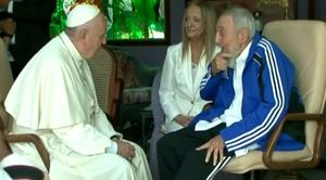 Pope Francis met with former Cuban leader Fidel Castro during a visit to the Carribean nation.