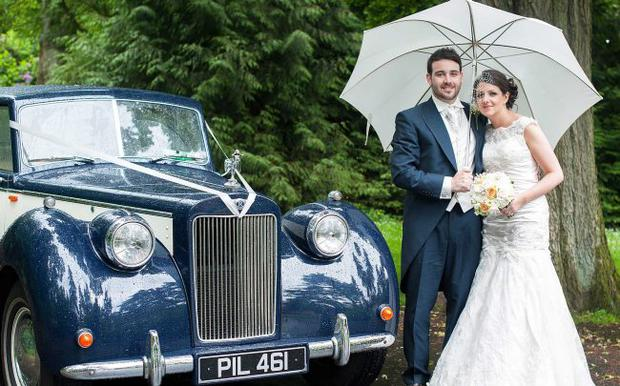 Childhood sweethearts Conor and Lauren Hogan are embracing married life following their wedding in Belfast. Picture Sam McDermott